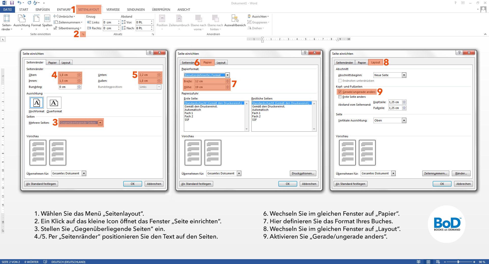 Buchausstattung: BoD - Books on Demand GmbH - Schweiz
